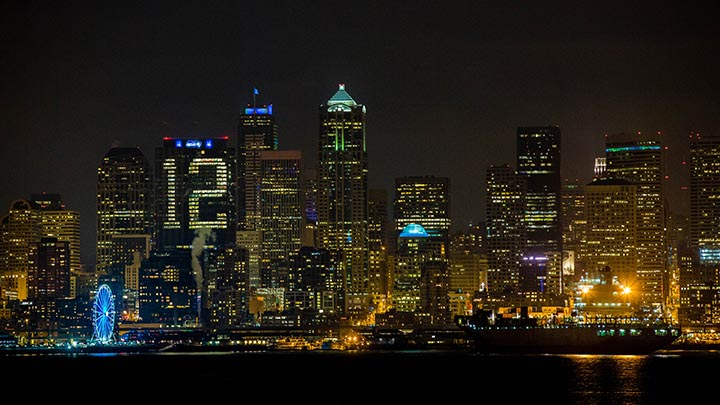 12th building lights up Seattle skyline